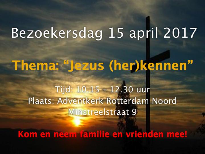 Bezoekersdag: Jezus (her)kennen